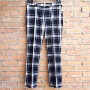 NWT size 10Tall GAP Tailored Crop Plaid Trousers
